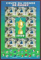 1999 FRANCE BLOC N°26** BF Coupe du Monde de RUGBY, 1999 France sheet MNH