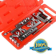 Flaring Tool Kit Set Water Gas Line Automotive Plumbing O.D. Tubing 14 Pc Set
