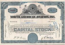 North American Aviation, Inc. stock certificate (Boeing) + 2 x 80 c stamps 1965