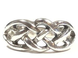 Beautiful Ladies Solid Sterling Silver Celtic Knot Design Ring - Size 7