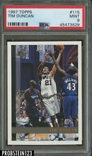 1997 Topps Basketball #115 Tim Duncan RC Rookie Spurs PSA 9 MINT
