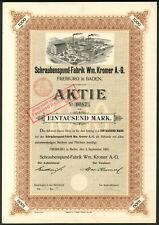 More details for germany: schraubenspund-fabrik wm. kromer a.g., 1000 marks, 1903