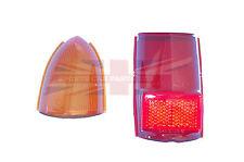 New Lucas Amber Upper & Lower Tail Lamp Stop Light Lens MGB MG Midget 1962-1969