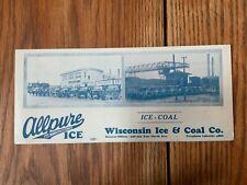 Ink Blotter Wagons & Trucks 1920's Wisconsin Ice & Coal