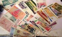 ** Lot of 50 Different -- Uncirculated Genuine WORLD CURRENCY BANKNOTES