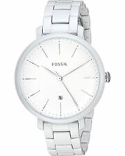 Fossil ES4397 Women's Jacqueline White Stainless Steel Bracelet Fashion Watch