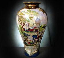 LOVELY WILTON WARE HAND PAINTED ORIENTALIST VASE - HORACE WAIN?