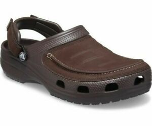 Crocs Mens Yukon Vista II Clog Lightweight Flexible Leather Comfortable Adjust