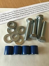 12mm Gloss Blue Bonnet Raisers Nissan 200sx Silvia S14 S15 Skyline GTR R32 R33