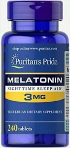 Puritans Pride Sleep Support 3 mg Tablets, 240 Count
