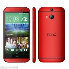 """2+32Go 5"""" HTC One M8 Rouge 4G Téléphone Débloqué d'usine Android Smartphone Wifi"""