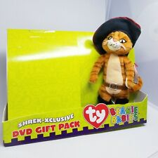 Ty Beanie Baby ~ Puss In Boots From Shrek the Third w/ original tags attached