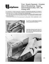 Delta Rockwell Uniplane Instructions