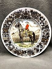 Vintage china Royal Canadian Mounted Police plate Wood & Sons ironstone England
