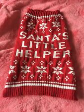 Dog Christmas Jumper Size S/M . Never worn