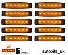 10 x 24V 24 Volt SMD 6 LED AMBRA INDICATORE LATERALE LUCE POSIZIONE CAMION