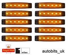 10 Pcs 24 Volt Smd 6 Led Amber Side Marker Lamps Position Truck Trailer Lorry