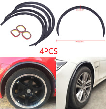 4PCS Carbon Fiber Car Wheel Eyebrow ArchTrim Lips Strip Fender Flares Protector