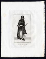 Antique Portrait Print-MRS CRESSWELL-PROSTITUTE-Caulfield-Barrett-1813