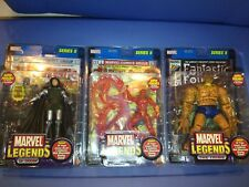Marvel Legends ToyBiz Complete Series 2 Dr Doom, Thing, Human Torch (see descrip