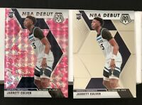 2019-20 Mosaic NBA Debut Pink Camo & Base Rookie #263 Jarrett Culver RC - LOT(2)