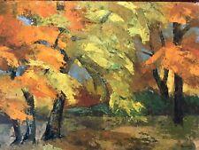 Vintage Original Oil Autumn Trees Landscape Signed Brubeck '65