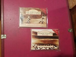 NEW YORK YANKEES Postcards of AMERICA lot of 2 NEW IN PLASTIC NYC MLB RUTH