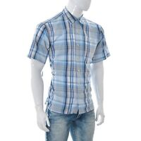 Patagonia Mens Casual Button Down Shirt Short Sleeve Top size M Medium Plaid