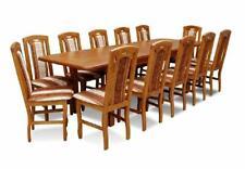 Esstisch & 12x Stühle Esszimmer Set Essgruppe Kalssischer Tisch Stuhl Tische Z18