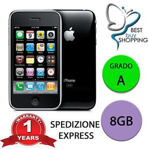 APPLE IPHONE 3 GS 8GB NERO CON ACCESSORI 3GS 8 GB RICONDIZIONATO GRADO A