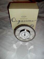 """Lenox Organics Collection Organics Bead Clock Quartz New In Box 5"""""""
