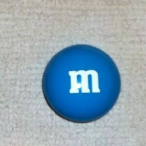 """Mars, M&M's Blue Candy Tin Circle Container, 3 x 3"""" Collectible SHIPS FREE"""