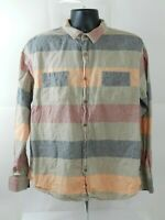 MODERN AMUSEMENT Mens Size XL Striped Button Down Shirt Long Sleeve
