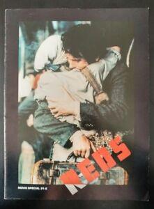 REDS, Official Movie Program Souvenir (1981) Good Condtion