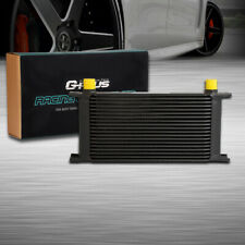 Universal 19 Row An10 Full Aluminum Engine Transmission Oil Cooler Black