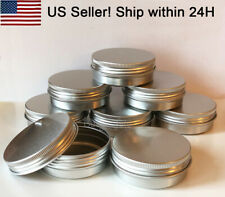 US Seller Aluminum cosmetic Tin Screw Round Lip Metal Storage Jar Container Lid
