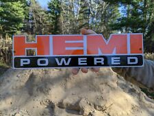 Old Vintage 1950'S Hemi Powered Parts Porcelain Enamel Dealership Sign Car Truck