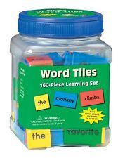 "Eureka Tub Of Word Tiles, 160 Tiles in 3 3/4"" x 5 1/2"" x 3 3/4"" Tub , New, Free"