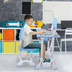 Preschool Home Playroom Childrens Study Table Chair Sets Kindergarten Plastic Chairs Tables Kit Furniture for Toddlers Boys /& Girls Light Blue Bedroom C-Easy Kids Desk and Chair Set