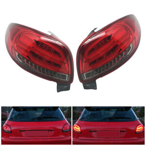 Pair R+L Brake LED Turn Signal Marker Rear Tail Light Fit for Peugeot 206 98-10