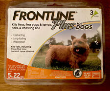 Frontline Plus Flea and Tick Treatment for Small Dog (5-22 lbs.) 3 doses. New.