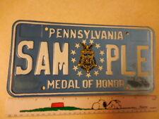 "Pennsylvania ""Medal of Honor"" License Plate Tag # SAM***PLE ~~ships FREE~~"