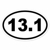 "13.1, Oval Half Marathon Run EURO OVAL Car Bumper Sticker 3""X 5"""