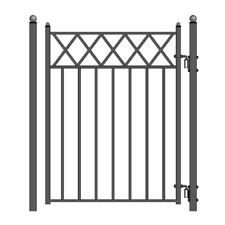 ALEKO Stockholm Style Ornamental Iron Wrought Garden Pedestrian Gate 5'X4'