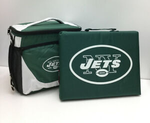 New York Jets-Lunch Cooler Zippered Insulated Bag NFL Fan W/Bottle Opener & Seat