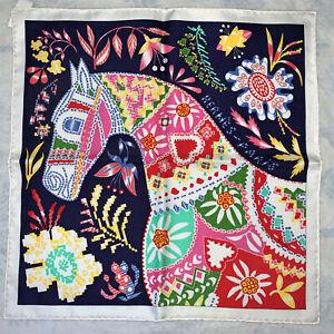 NWT Hermes Gavroche Silk Scarf 45 Handkerchief Pocket Square En Attendant Ulysse