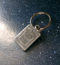 JACK DANIELS Pewter-Colored Metal Keychain, Old No. 7 PLEASE DRINK RESPONSIBLY