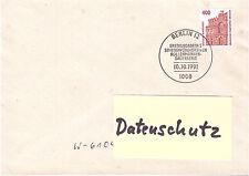 BRD FDC 1562 Sehenswürdigkeiten Ersttagssonderstempel Berlin 10.10.1991 gelaufen