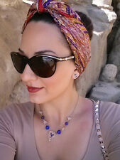 Vismaya Square Hair Head Scarf Paisley NWT Sold @ Anthropologie Gift 100% silk