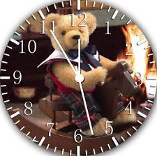 Ours en Peluche Frameless sans Bords Horloge Murale pour Cadeaux ou Décor Maison